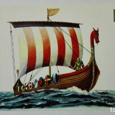Postales: POSTAL HISTORIA DEL MAR, DRAKAR NORMANDO DE LA INVASION DE GUILLERMO EL CONQUISTADOR, SIGLO XI, Nº 4. Lote 182293282