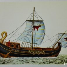 Postales: POSTAL HISTORIA DEL MAR, NAVE MERCANTE ROMANA, SIGLO II, Nº 3. Lote 182293405