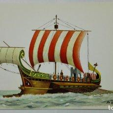 Postales: POSTAL HISTORIA DEL MAR, NAVE ROMANA, SIGLO I, Nº 1. Lote 182293592