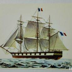 Postales: POSTAL HISTORIA DEL MAR, FRAGATA FRANCESA 16 CAÑONES, SIGLO XIX, Nº 10. Lote 182293983