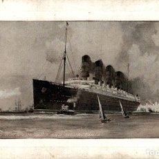 Cartes Postales: LUSITANIA AND MAURITANIA. PAQUEBOTE SHIP. Lote 182441205