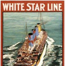 Postales: WHITE STAR LINE SOUTHAMPTON-CHERBOURG-NEW YORK PAQUEBOTE SHIP. Lote 182441612