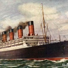 Cartes Postales: CUNARD LINE R.M.S. AQUANIA PAQUEBOTE SHIP. Lote 182442233