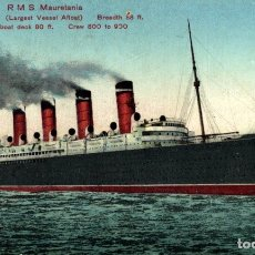 Cartes Postales: R.M.S. MAURETANIA PAQUEBOTE SHIP. Lote 182442752