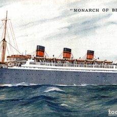 Cartes Postales: MONARCH OF BERMUDA. PAQUEBOTE SHIP. Lote 182442780