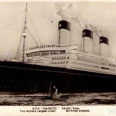 Cartes Postales: R.M.S. MAJESTIC. PAQUEBOTE SHIP. Lote 182442860
