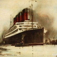 Cartes Postales: 'AQUITANIA' CUNARD LINE PAQUEBOTE SHIP. Lote 182443053
