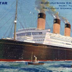 Cartes Postales: WHITE STAR LINE 'MAJESTIC' PAQUEBOTE SHIP. Lote 182443101