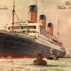 Cartes Postales: R.M.S. MAJESTIC PAQUEBOTE SHIP. Lote 182443860