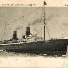 Postales: COMPAGNIE GÉNÉRALE TRANSATLANTIQUE. Lote 182891296