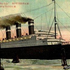 Cartes Postales: BATEAU PAQUEBOT SS STATENDAM. Lote 182895011