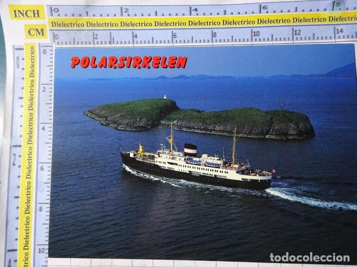 POSTAL DE BARCOS NAVIERAS. BARCO BUQUE CIRCULO POLAR HURIGRUTA NORUEGA 1153 (Postales - Postales Temáticas - Barcos)