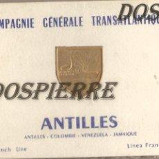 Postales: POSTALES, BLOCK DE 20 FOTOS, COMPAGNIE GENERALE TRANSATLANTIQUE, ANTILLES, LINEA FRANCESA, MUY RARO. Lote 184358797