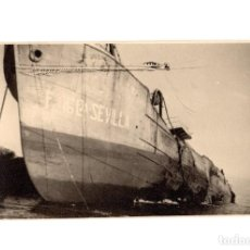 Postales: BARCO ESCORADO. F.16L5ª. SEVILLA . POSTAL FOTOGRÁFICA.. Lote 186337695