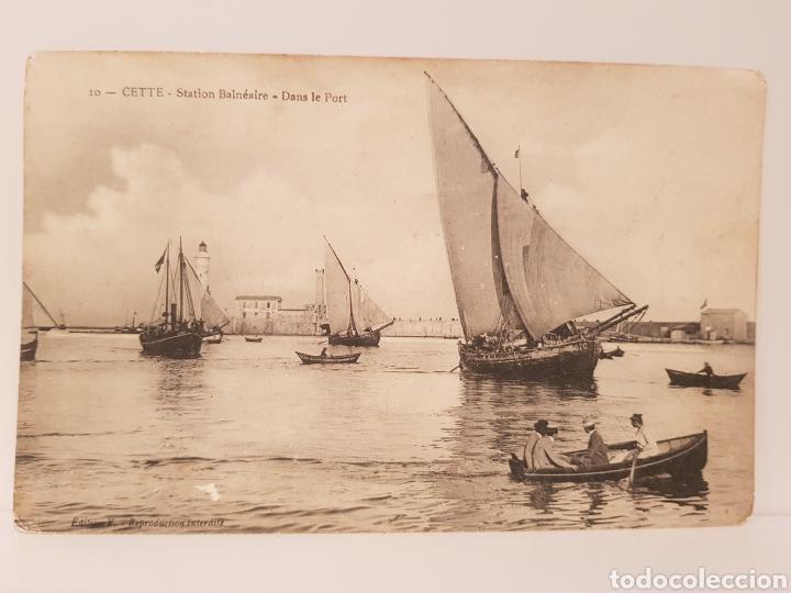 10- CETTE- STATION BALNÉAIRE- DANS LE PORT/ ORIGINAL DE ÉPOCA/ 14× 9 CTM/ (Postales - Postales Temáticas - Barcos)