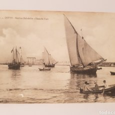 Postales: 10- CETTE- STATION BALNÉAIRE- DANS LE PORT/ ORIGINAL DE ÉPOCA/ 14× 9 CTM/. Lote 186360377