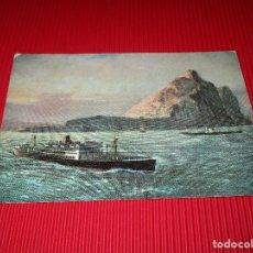 Postales: ANCHOR LINE - R.M.S. CALEDONIA OFF GIBRALTAR - ESCRITA. Lote 187525026