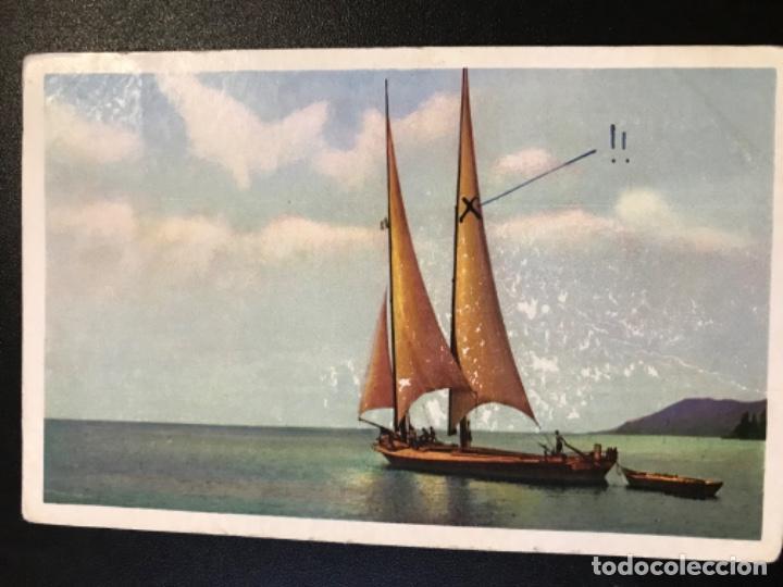 ANTIGUA POSTAL SUIZA BARCO VELERO DIBUJO NLG POSTAL SERIE 183 CIRCULADA (Postales - Postales Temáticas - Barcos)