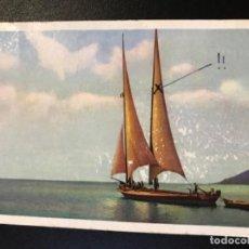 Postales: ANTIGUA POSTAL SUIZA BARCO VELERO DIBUJO NLG POSTAL SERIE 183 CIRCULADA . Lote 188570371