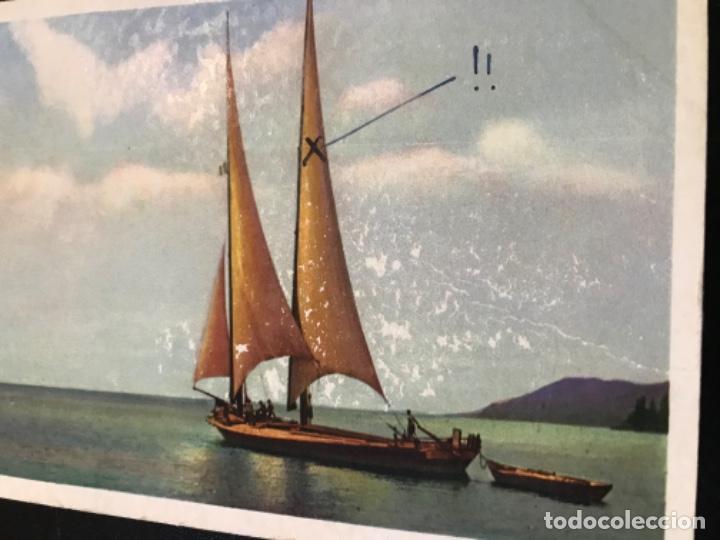Postales: Antigua postal suiza barco velero dibujo NLG postal serie 183 circulada - Foto 2 - 188570371