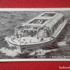 Postales: POSTAL BARCO RONDVAART P. KOOIJ, ROKIN AMSTERDAM THE NETHERLANDS KONINGIN JULIANA BOAT SHIP HOLANDA. Lote 189571787