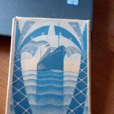 Postales: VAPOR TEIDE. COMPAÑÍA TRANSMEDITERRÁNEA. ESTUCHE 12 POSTALES. (COMPLETO). Lote 189740632