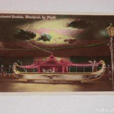 Postales: ILLUMINATED GONDOLA BLACKPOOL , BY NIGHT. . Lote 190551703
