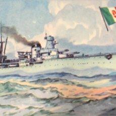 Postales: TARJETA POSTAL DE BARCOS, CRUCERO R. MONTECUCCOLI. Nº80 MARINA DE GUERRA ITALIA.. Lote 190704320