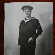 Postales: ANTIGUA FOTOGRAFIA DE MARINO DEL CRUCERO BALEARES, MIDE 10,8 X 6,3 CMS.. Lote 190732193