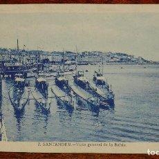 Postales: SUBMARINOS, VISTA GENERAL DE LA BAHIA, SANTANDER, 2 CIRCULADA. Lote 190734128