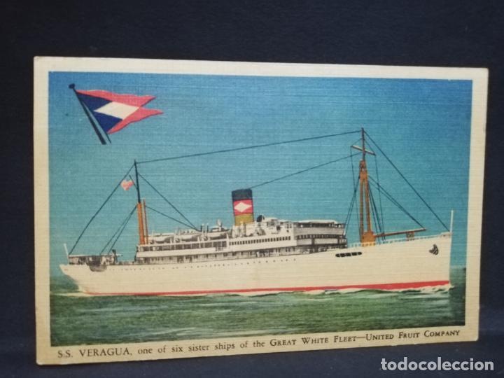 TARJETA POSTAL DE BARCOS. VERAGUA. UNITED FRUIT COMPANY. (Postales - Postales Temáticas - Barcos)