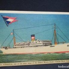 Postales: TARJETA POSTAL DE BARCOS. VERAGUA. UNITED FRUIT COMPANY.. Lote 190812098