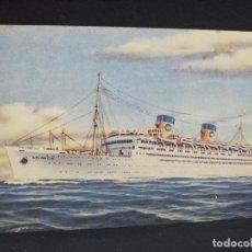 Postales: TARJETA POSTAL DE BARCOS. ATLANTIC. COSULICH MANAGEMENT.. Lote 190812186