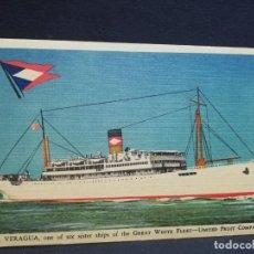 Postales: TARJETA POSTAL DE BARCOS. VERAGUA. UNITED FRUIT COMPANY.. Lote 190812220