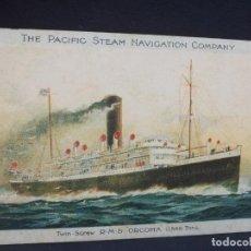 Postales: TARJETA POSTAL DE BARCOS. THE PACIFIC STEAM NAVIGATION COMPANY. . Lote 190812426