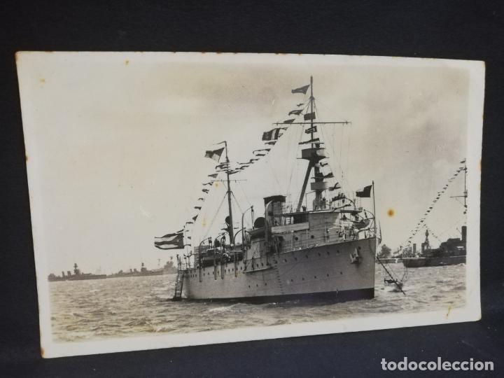 TARJETA POSTAL FOTOGRAFICA DE BARCOS. RECUERDO DEL VIAJE DEL CRUCERO CUBA. 1937. (Postales - Postales Temáticas - Barcos)