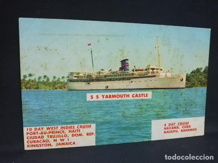 TARJETA POSTAL DE BARCOS. S S YARMOUTH CASTLE. (Postales - Postales Temáticas - Barcos)