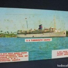 Postales: TARJETA POSTAL DE BARCOS. S S YARMOUTH CASTLE.. Lote 190813391