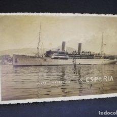 Postales: TARJETA POSTAL DE BARCOS. S. S. ESPERIA. . Lote 190813628