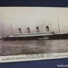 Postales: TARJETA POSTAL DE BARCOS. THE WHITE STAR LINER OLYMPIC. . Lote 190814775