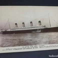Postales: TARJETA POSTAL DE BARCOS. THE WHITE STAR LINER OLYMPIC. . Lote 190814802