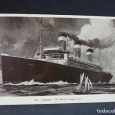 Postales: TARJETA POSTAL DE BARCOS. LEVIATHAN. THE WORLD´S LARGEST LINER.. Lote 190814875
