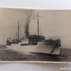 Postales: POSTAL FOTOGRÁFICA. BARCO, BUQUE PASAJEROS Y MERCANTE. A. LÁZARO.. Lote 191023231