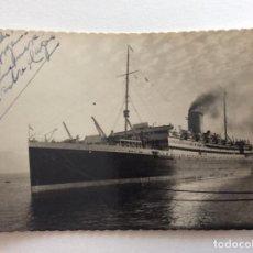 Postales: POSTAL FOTOGRÁFICA. ED. LUJO 605. BARCO BUQUE TRASATLÁNTICO DE PASAJEROS Y MERCANTE. ALCÁNTARA.. Lote 191023692