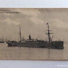 Postales: POSTAL HAUSER MENET. BARCO BUQUE PASAJE Y MERCANTE. COMPAÑÍA TRASATLÁNTICA. VAPOR P. DE SATRÚSTEGUI.. Lote 191024785