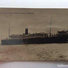 Postales: POSTAL FOTOGRÁFICA. BARCO BUQUE TRASATLÁNTICO. INFANTA ISABEL DE BORBÓN. MÁLAGA.. Lote 191025385