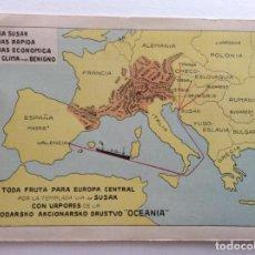 Postales: POSTAL PUBLICIDAD BARCO. LÍNEA MERCANTE VAPORES, VÍA SUSAK. J.Y A. LAMAIGNERE. VALENCIA.. Lote 191025772