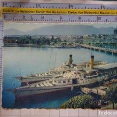 Postales: POSTAL DE BARCOS NAVIERAS. BARCO BUQUE EN GINEBRA, SUIZA. 2421. Lote 191274467