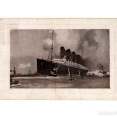 Postales: BARCO.- LUSITANIA AND MAURITANIA.. Lote 191617192