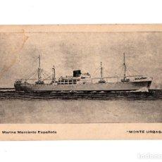 Postais: BARCO.- MARINA MERCANTE ESPAÑOLA. MONTE URBASA.. Lote 191618111